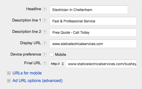 How to set up your Google Adwords account 6
